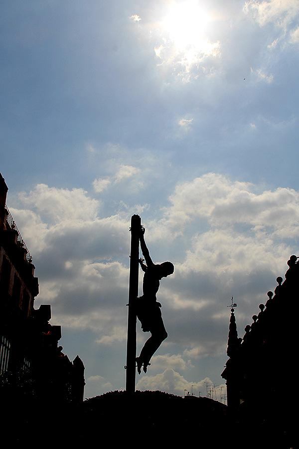 Stmo. Cristo de la Buena Muerte (Los Estudiantes). Fotografía del antiguo alumno de Altair, Román Calvo