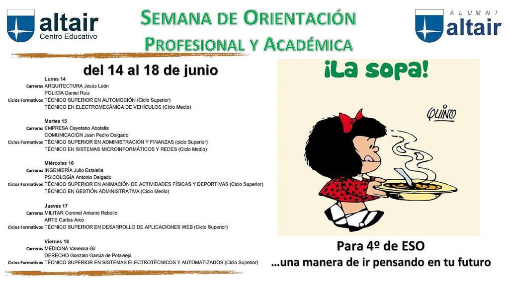 """SOPA (""""Semana de Orientación Profesional y Académica"""")"""