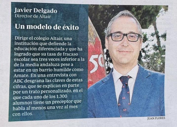 Entrevista a Javier Delgado, director de Altair en ABC de Sevilla